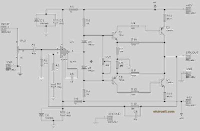 140W RMS Power Amplifier Circuit Diagram
