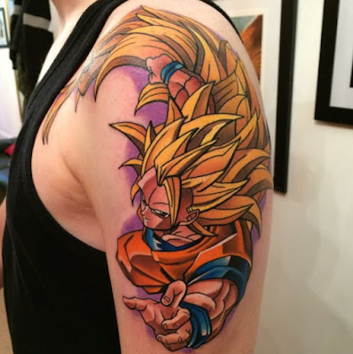 Tatuaje Dragon Ball : Super Saiyajin nivel 3