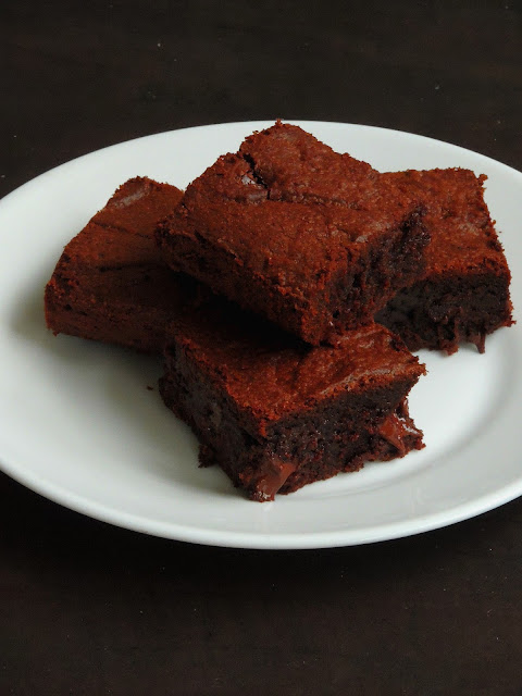 Double chocolate fudgy brownies
