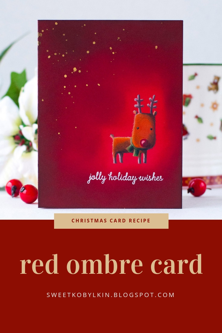 Red Ombre Holiday Card