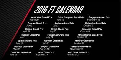 jadwal f1 2016 Lengkap Dengan Jam Tyaang
