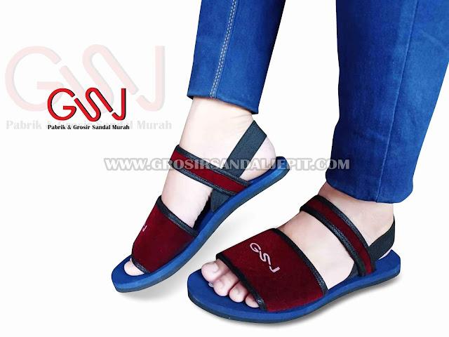 Sandal Spon Talincang Wanita GSJ - www.grosirsandaljepit.com