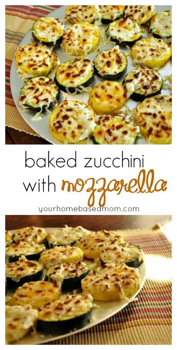 Baked Zucchini with Mozzarella #baked #zucchini #mozzarella #veggies #vegetable #vegetarianrecipes #veganrecipes