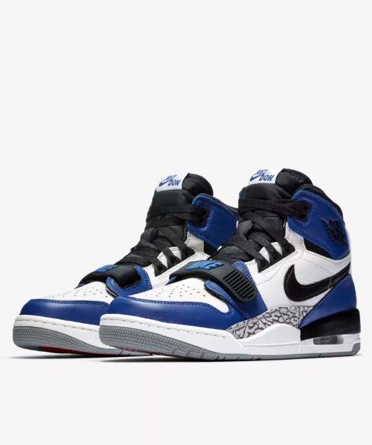 4e48564db4b THE SNEAKER ADDICT  Don C Air Jordan Legacy 312  Storm Blue  Sneaker ...