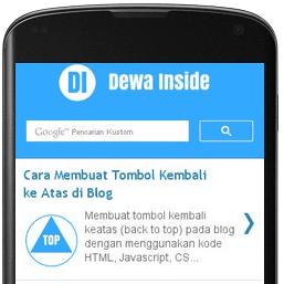 Menampilkan Gadget Blogger di Mobile View
