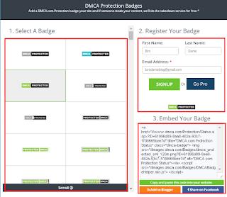 Daftar DCMA dan Cara Memasang DCMA di Blog
