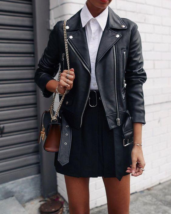 10 looks imperdíveis com jaqueta de couro