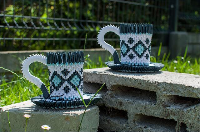 572. Filiżanki z origami / 3d origami coffee cups