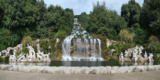 Vanvitelli's Grande Cascata waterfall is a feature of the Royal Palace's vast gardens