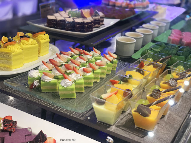 Assorted French pastries, strawberry terrine, flavoured agar agar, mango mousse cake and more!