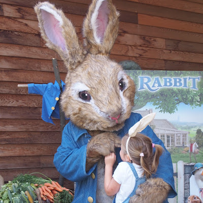 Ellie meeting Peter Rabbit