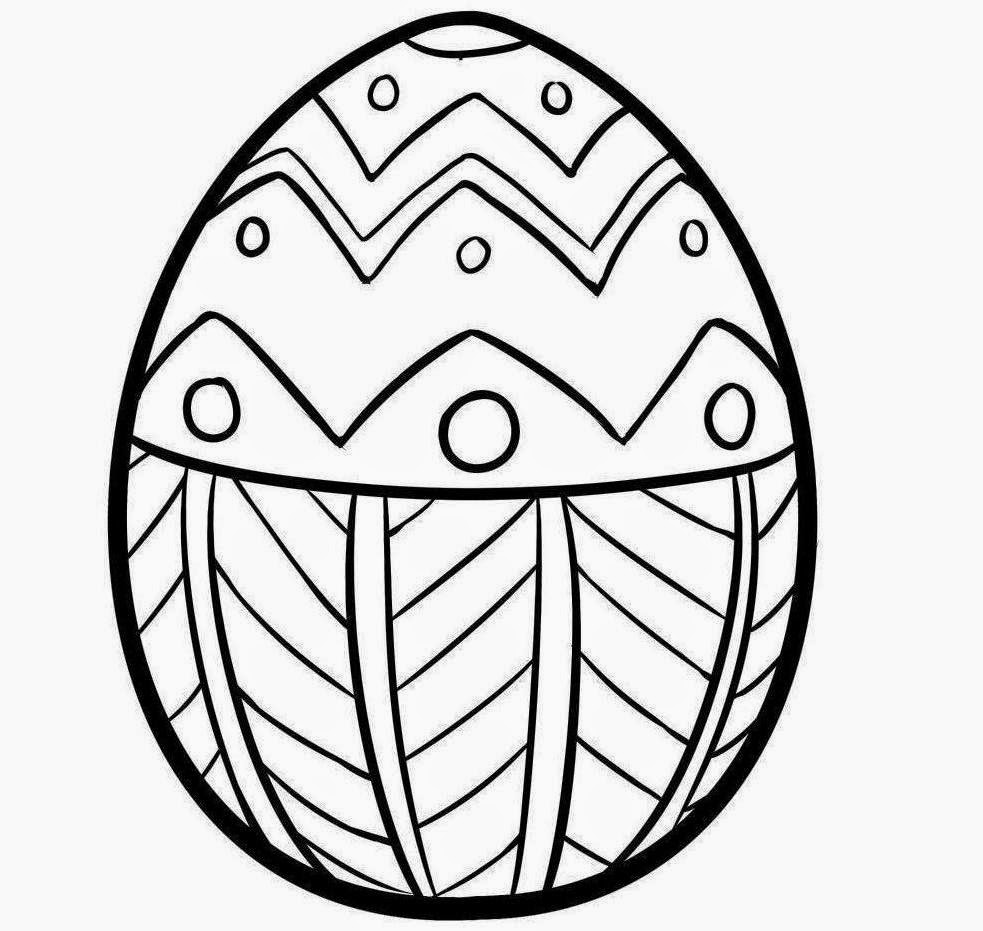 Colour Drawing Free Wallpaper: Printable Easter Egg For