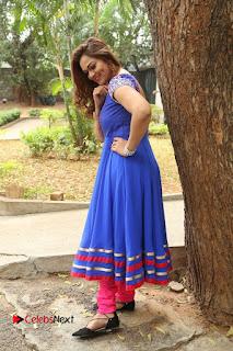 Actress Ashwini Stills in Blue Chudidar at Ameerpet Lo Release Press Meet  0215.JPG