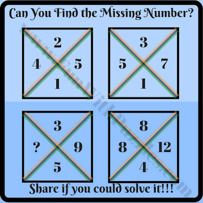 Can you find missing number math brain teaser riddle?