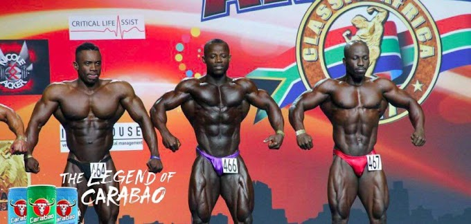 Carabao Energy Drink supports the Ghanaian body building team for the Arnold classics 2017