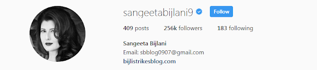 Sangeeta Bijlani Instagram