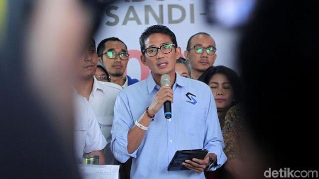 Mardani Haramkan #2019GantiPresiden, Ini Respons Sandiaga