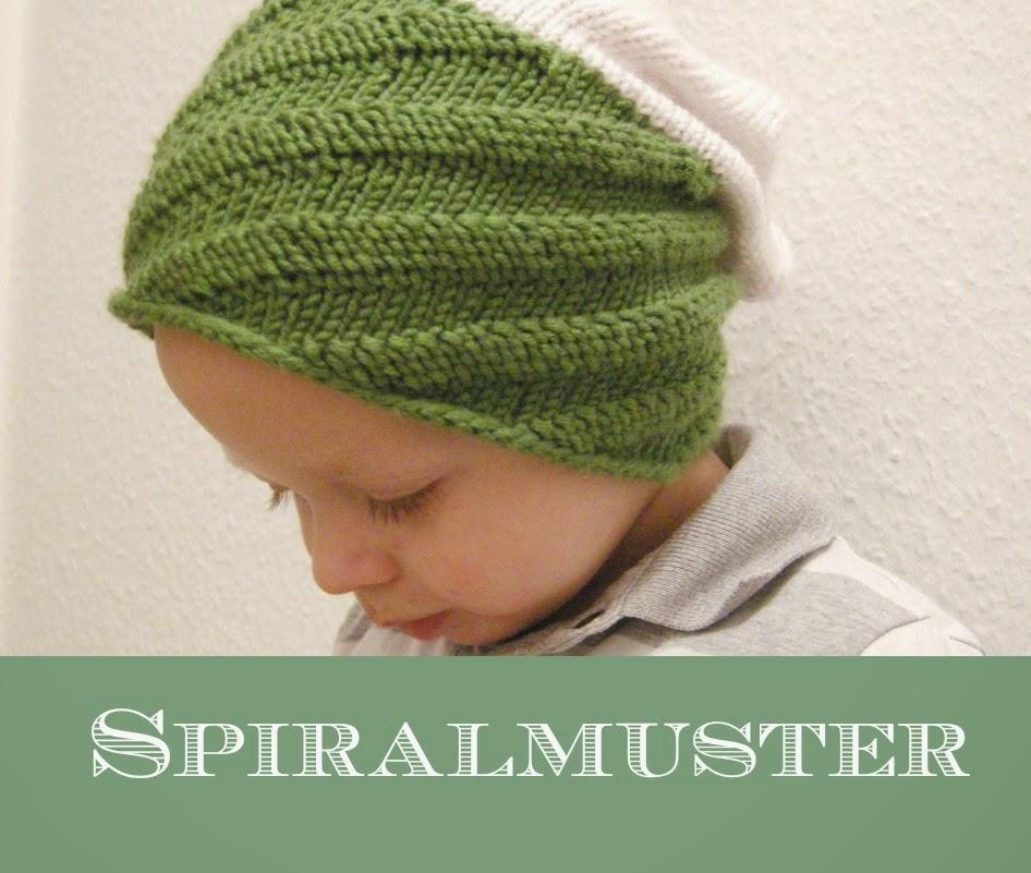 spiralmuster mütze stricken