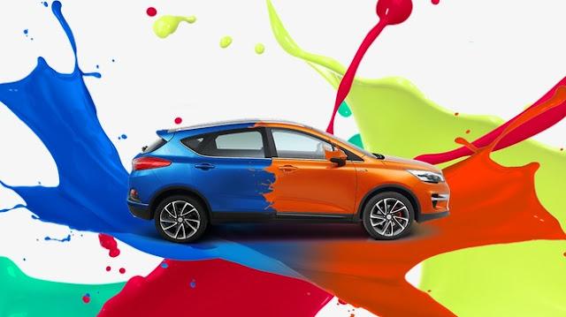 Couleurs de peinture de voiture