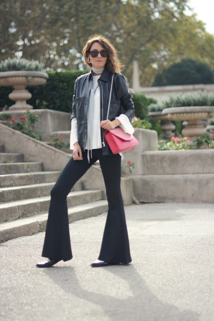 3ec335a20c89 Shot by Zina Charkoplia. Zara Leather Shirt ...