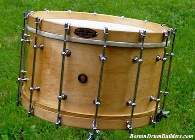 George B. Stone & Son Separate Tension Band Drum - After Restoration