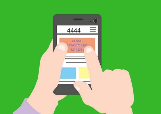 Gambar format registrasi kartu telkomsel di Handphone
