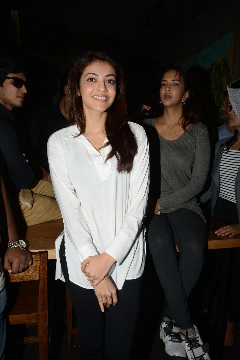 Kajal Agarwal Hot Photoshoot In White Shirt