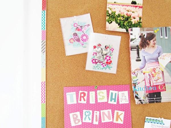 Trisha Brink - Washi tape your cork board!