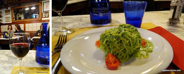 Restaurante em Florença: talharim ao pesto e lampredotto servidos na Osteria San Niccolò