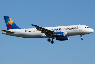 Airbus A320 of Small Planet Airlines