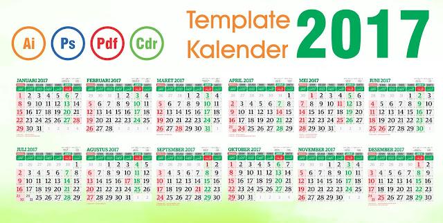 Download Template Kalender 2017 Vector Editable: Daftar Template ...