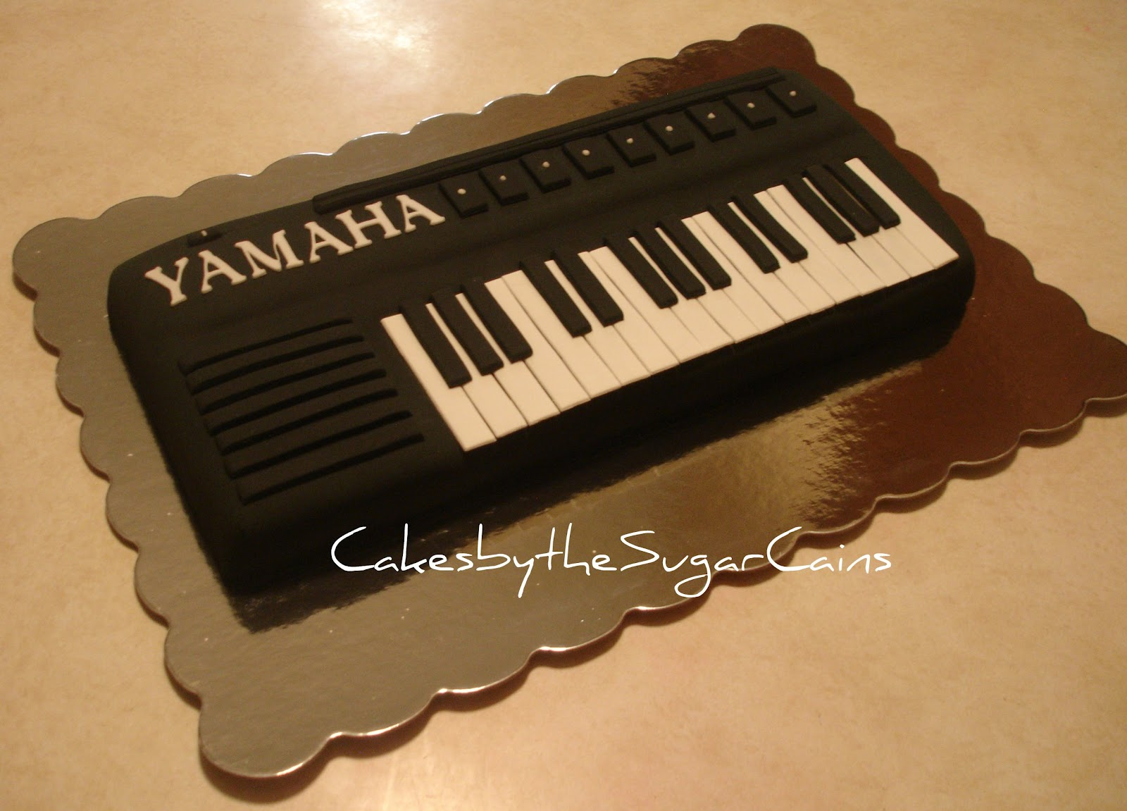 Piano Keyboard Birthday Cake