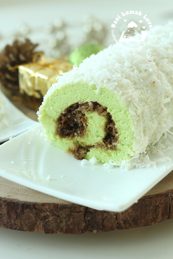 Ondeh Ondeh Swiss Roll Christmas Log Cake ???????