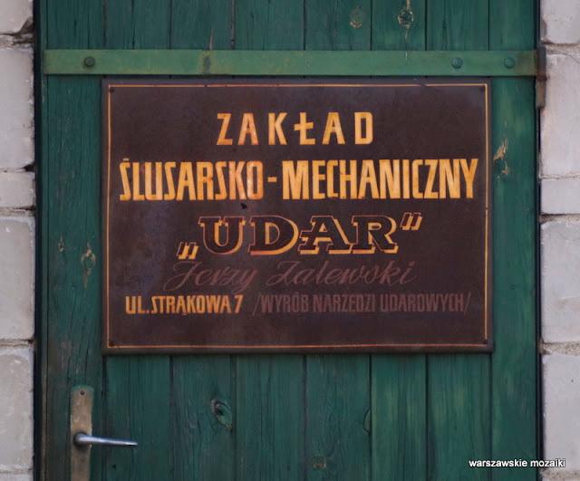 Warszawa szyld szyldy warszawskie retro udar