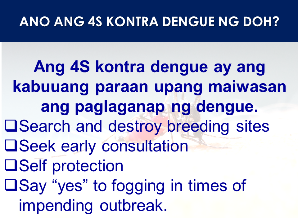 "In the midst of Filipino parents with kids already vaccinated with the controversial anti-dengue shots worry, the World Health Organization Releases their stand and answers questions about Dengvaxia. Over 7000,000 had been vaccinated since the nationwide vaccination commenced and the Department of Health that about 10% of them were not infected by the virus prior to the vaccination putting them at risk of having ""severe diseases"" as to the statement of the vaccine manufacturer Sanofi Pasteur.  What is Dengvaxia®? There continues to be a strong public health need for effective preventive interventions against dengue, a disease caused by four viruses, termed serotypes 1-4. One dengue vaccine has been licensed, Dengvaxia® (also referred to as CYD-TDV), developed by Sanofi Pasteur. Dengvaxia® is a live recombinant tetravalent dengue vaccine developed by Sanofi Pasteur, given as a 3-dose series on a 0/6/12 month schedule. Dengvaxia® is the first dengue vaccine to be licensed and has now been approved by 19 regulatory authorities for use in endemic areas in persons typically ranging from 9-45 (in some countries 9-60) years of age. It has been introduced in two subnational programs in the Philippines and Brazil targeting about one million individuals. It is otherwise available on the private market in countries where there is a marketing authorization.  What was previously known about the licensed dengue vaccine, Dengvaxia®? Dengvaxia® has been evaluated in two Phase 3 clinical trials (CYD14 trial in five countries in Asia and CYD15 trial in five countries in Latin America). Together, these trials included over 30,000 participants aged 2 to 16 years. Vaccine efficacy against confirmed dengue pooled across both trials was 59.2% in the year following the primary series, and 79.1% against severe dengue. Efficacy varied by serotype, by age at vaccination and serostatus at baseline (i.e., previous exposure to dengue prior to vaccination).  While efficacy was reported against hospitalized and severe dengue in Years 1 and 2 post-dose 1, an excess of cases of hospitalized and severe dengue cases in those receiving Dengvaxia® was seen in Year 3 in some subgroups, although it is based on relatively small numbers of cases. Whether the increased risk was due to age or serostatus at baseline, which is highly correlated with age, could not be fully clarified with the available data at the time. For subjects aged 9 and above, in the first 25 months of the phase 3 trials, there was a reduction in severe dengue by 93% and a reduction in hospitalizations by 81%. Owing to the higher efficacy among participants vaccinated at age ≥9 years, as well as an elevated risk of hospitalized dengue in the 2–5-year age group, licensure was obtained in several countries to date for those aged 9–45 or 9–60 years living in dengue-endemic settings.  What is WHO's current position on the use of Dengvaxia®?  Following recommendations made by the Strategic Advisory Group of Experts (SAGE) on immunization, WHO's advisory body on vaccination, a position paper was published in July 2016 based on the data available at that time. The position paper makes a conditional recommendation on the use of the vaccine for highly endemic areas. Based on considerations of superior efficacy and, possibly, safety and duration of protection in seropositive individuals, SAGE recommended seroprevalence thresholds as the best population-level strategy. Based on mathematical modeling, an optimal seroprevalence in the age group targeted for vaccination was defined in the range of ≥70%. At that time theoretical elevated risk of dengue in vaccinated seronegative subjects was noted, and research into this was considered high priority. WHO thus called on Sanofi Pasteur to provide more data on efficacy and safety in baseline seronegative vaccine recipients.  Sponsored Links What are the additional analyses on efficacy and safety in baseline seronegative persons who received Dengvaxia®? Because the Phase 3 trials did not collect blood samples from all participants to be able to determine serostatus at baseline, the company performed additional testing to infer serostatus at the time of vaccination. However, samples were available for all trial participants at month 13, one month after the 3rd dose was administered. These samples were tested using an assay that identifies antibodies against the dengue non-structural protein 1 (NS1) based on the fact that the Dengvaxia® non-structural proteins code for Yellow Fever vaccine proteins, rather than for dengue. This allows differentiation between previous natural exposure to dengue and vaccination. Based on this test, Sanofi Pasteur reanalyzed the trial data stratified by seronegative and seropositive subjects to estimate the safety and efficacy of the vaccine by baseline serostatus.  What are the preliminary results from the recent analysis of vaccine safety in persons seronegative to dengue prior to vaccination? While vaccinated trial participants overall had a reduced risk of virologically-confirmed severe dengue and hospitalizations due to dengue, the subset of trial participants who had not been exposed to dengue virus infection prior to vaccination had a higher risk of more severe dengue and hospitalizations due to dengue compared to unvaccinated participants, regardless of age. This increased risk was observed after an initial protective period and persisted over the observation period of up to 66 months post primary vaccination. What is WHO's interim interpretation of the data?  WHO's interim interpretation of data is that: —The vaccine significantly protects against hospitalized and severe dengue in subjects seropositive for dengue at time of first vaccination in all age groups studied; —The risk of hospitalized and severe dengue is significantly increased among vaccinated subjects who were seronegative for dengue at the time of first vaccination in all age groups studied;  WHO will conduct a full review of the data through the Global Advisory Committee on Vaccine Safety and SAGE, for revised guidance of the use of Dengvaxia®.  Pending the full review of the data, as a precautionary and interim measure, WHO recommends that Dengvaxia® is only administered to subjects that are known to have been infected with dengue prior to vaccination.  What do these data mean for other dengue vaccines in clinical development?  A more detailed analysis of the data is needed to answer this question. The two candidate vaccines in phase 3 clinical development differ significantly from Dengvaxia®, so that no conclusions on the safety and efficacy profile of these candidates should yet be drawn. However, it will be necessary to carefully monitor vaccine performance over time in both seronegative and seropositive subjects. Source: World Health Organization Advertisement Read More:  ©2017 THOUGHTSKOTO"