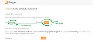 Lupa Alamat Email Untuk Masuk Blogger