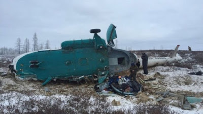 Russian Mi-8 helicopter crashes in Siberia, killing 19