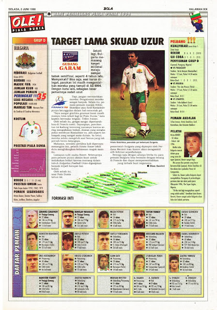 HRISTO STOICHKOV BULGARIA WORLD CUP 1998