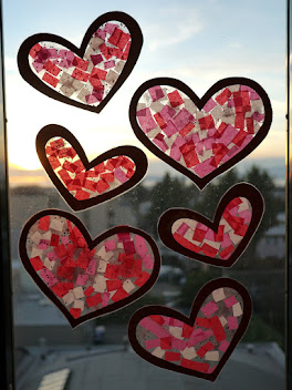 Valentines Heart Suncatchers