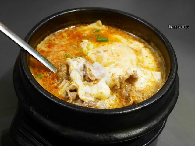 Cheese Soondubu Jigae - Beef RM21.90 ala carte / RM24.25 Set