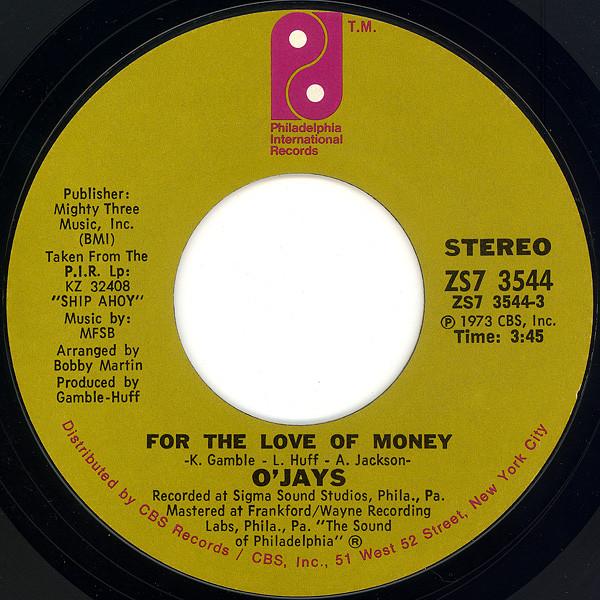 Sucessos De Sempre The O Jays For The Love Of Money