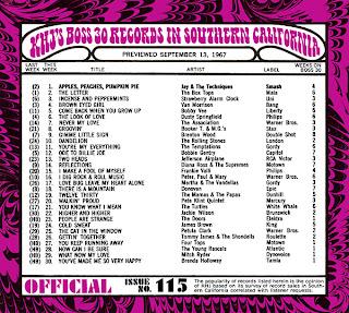 KHJ Boss 30 No. 115 - September 13, 1967