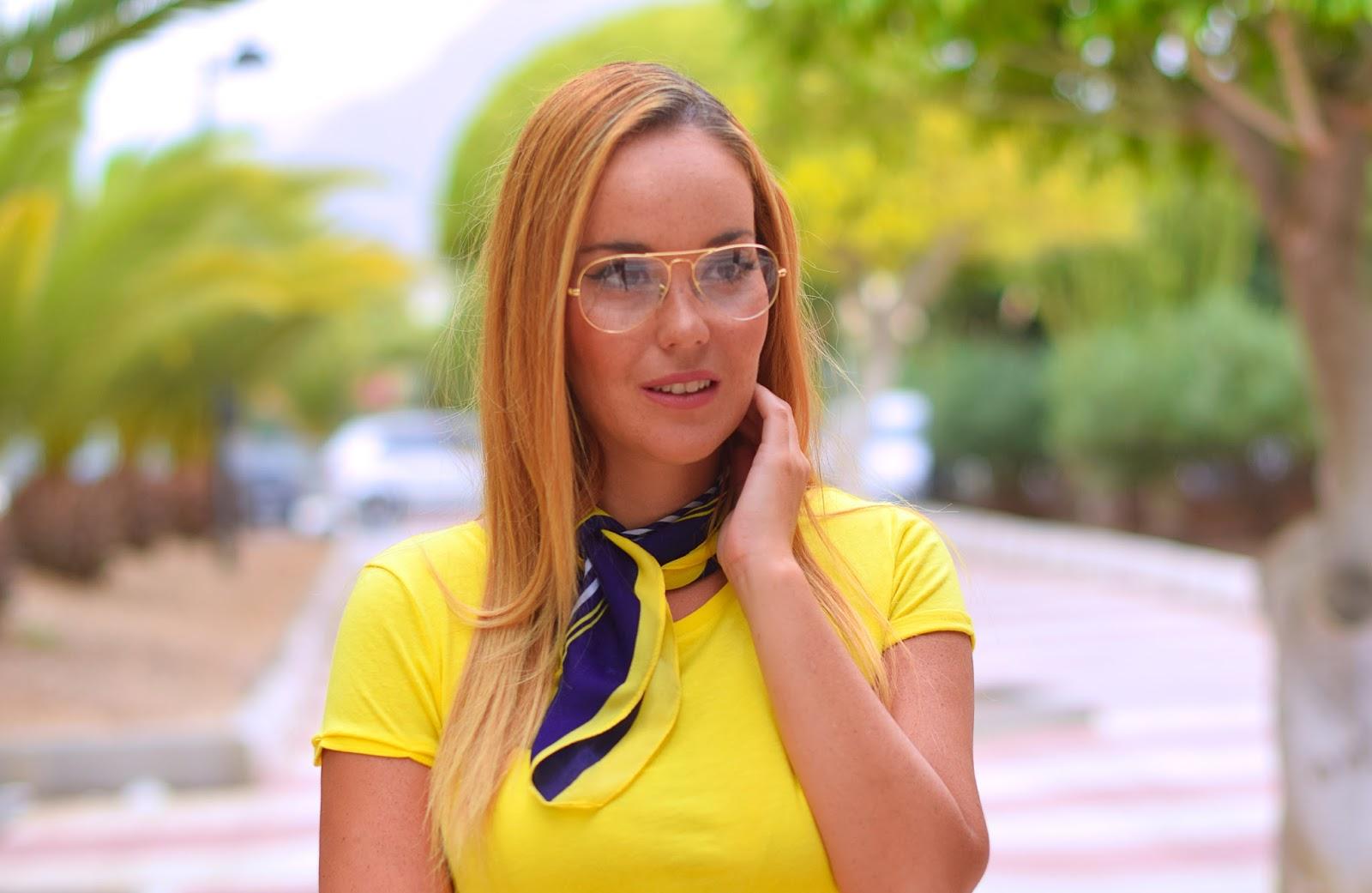 aviator graduated glasses, nery hdez, 70s style, falda vaquera estilo años 70, opticalh