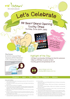 mrbean - PROMOTION - [ENDED] Mr Bean Grand Opening Lucky Draw
