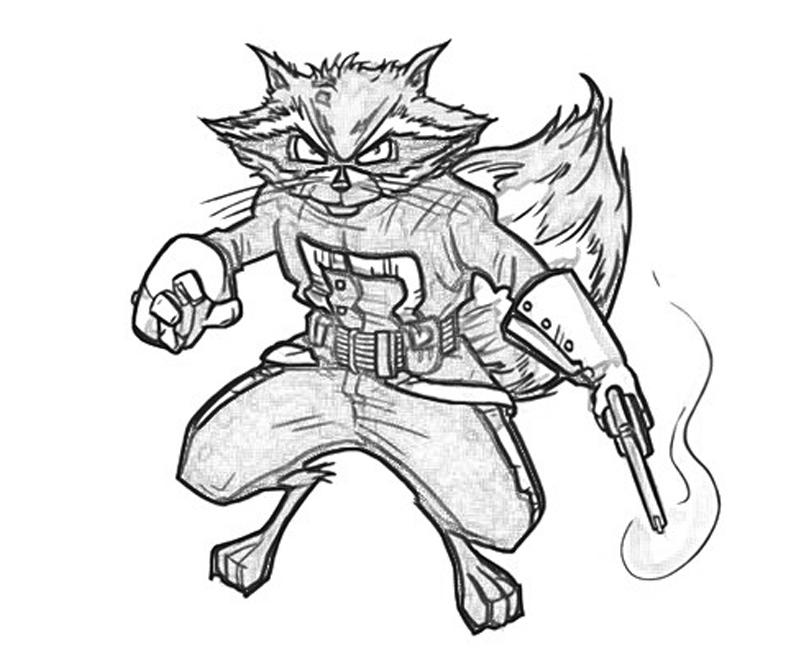 rocket raccoon coloring pages | Marvel vs Capcom Rocket Raccoon | Yumiko Fujiwara
