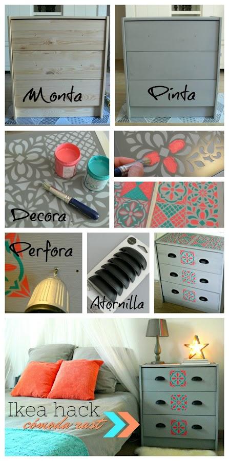 Cómo decorar una cajonera Rast de Ikea