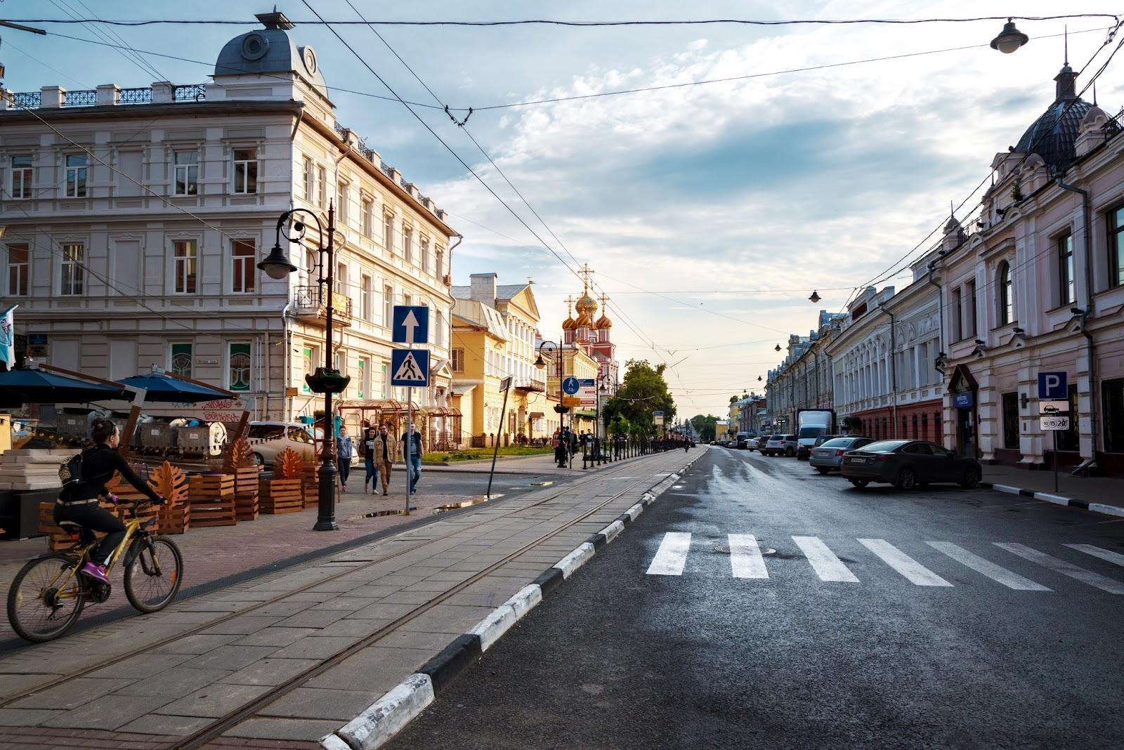 Фотография Рождественской улицы в Нижнем