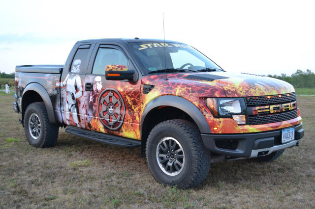 Fan Wraps Ford Truck In Star Wars Graphics Damn Cool