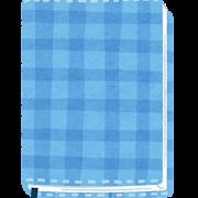 布のブックカバーのイラスト