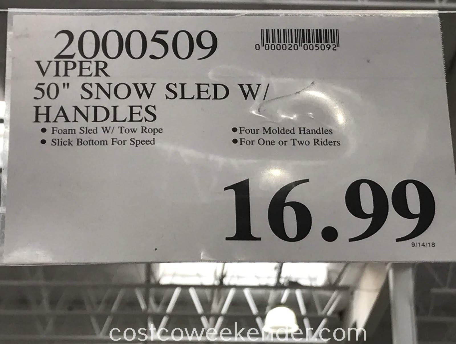 Deal for the Sno-Storm Vipernex Snow Sled at Costco